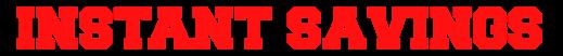 instant saving trans logo