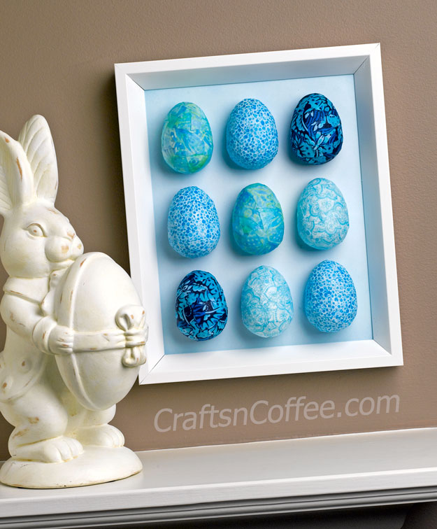 DIY Decoupage Easter eggs and wall art